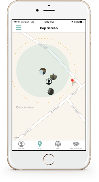geolocation mobile app screen